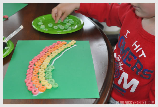 Froot Loop Rainbow for St. Patrick's Day   Vicky Barone