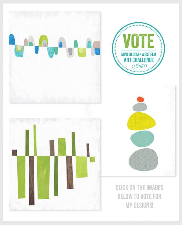 Vote Now – Minted.com + West Elm Art Challenge