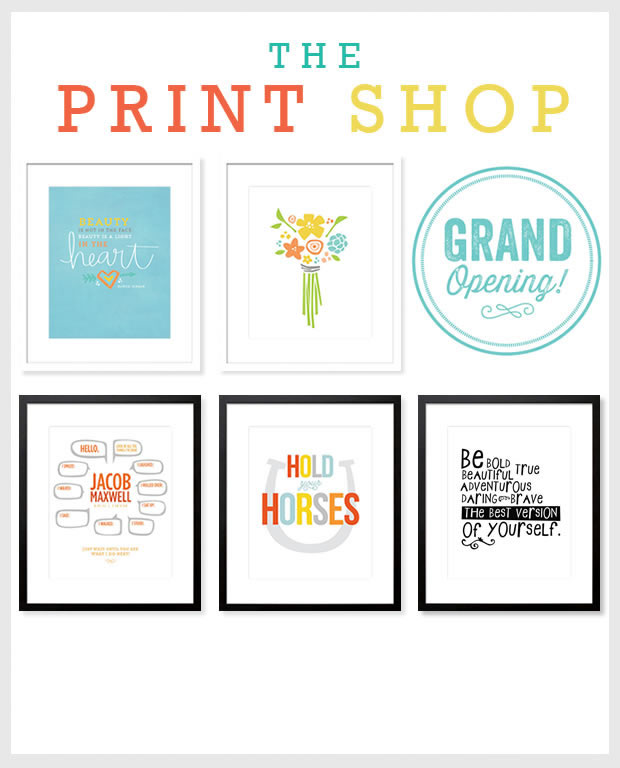 Grand Opening! The Print Shop: Our New Etsy Store!