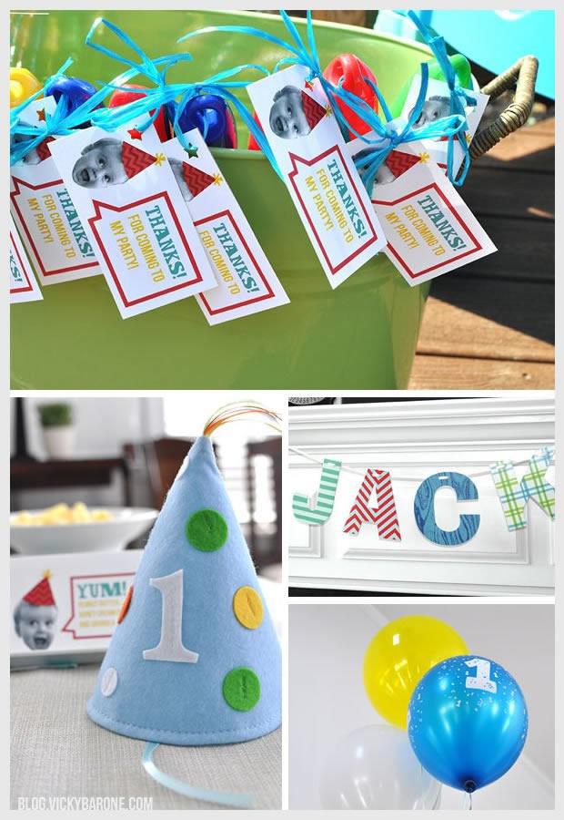 Baby Boy 1st Birthday Party | Vicky Barone