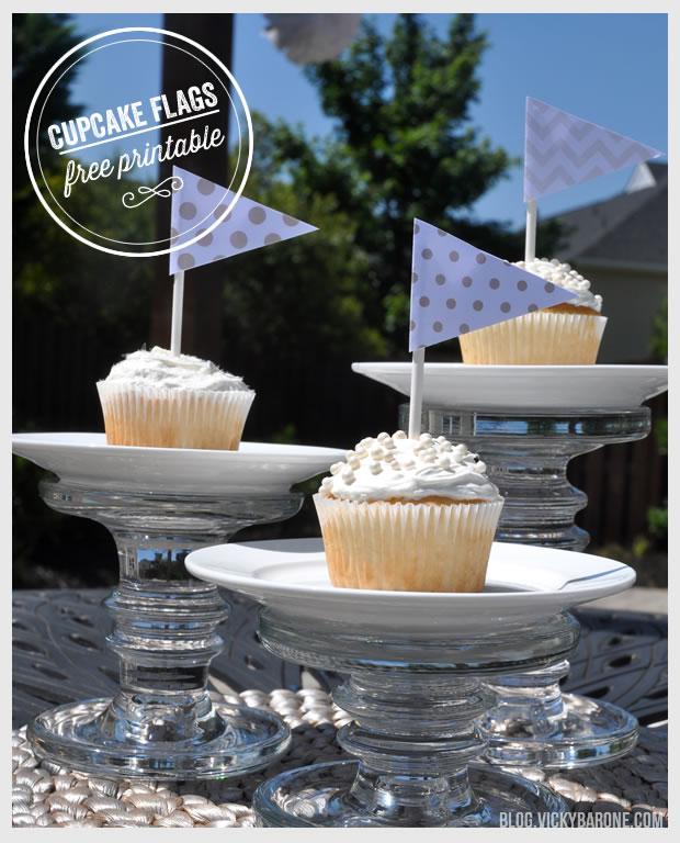 Cupcake Flags – Free Printable