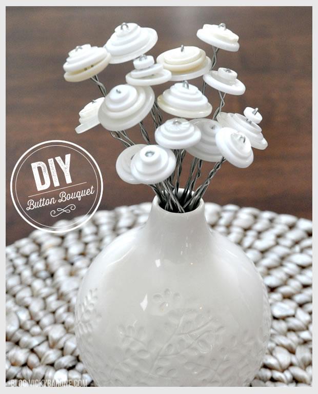 DIY Button Bouquet