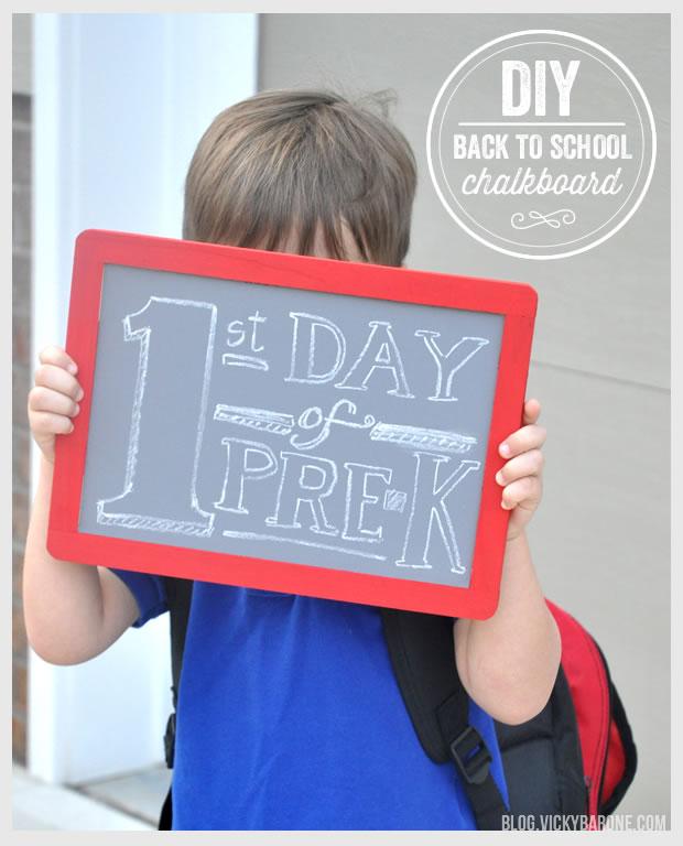DIY Back To School Chalkboard
