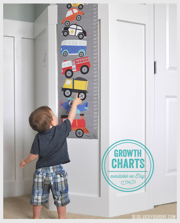 Growth Charts Available on Etsy