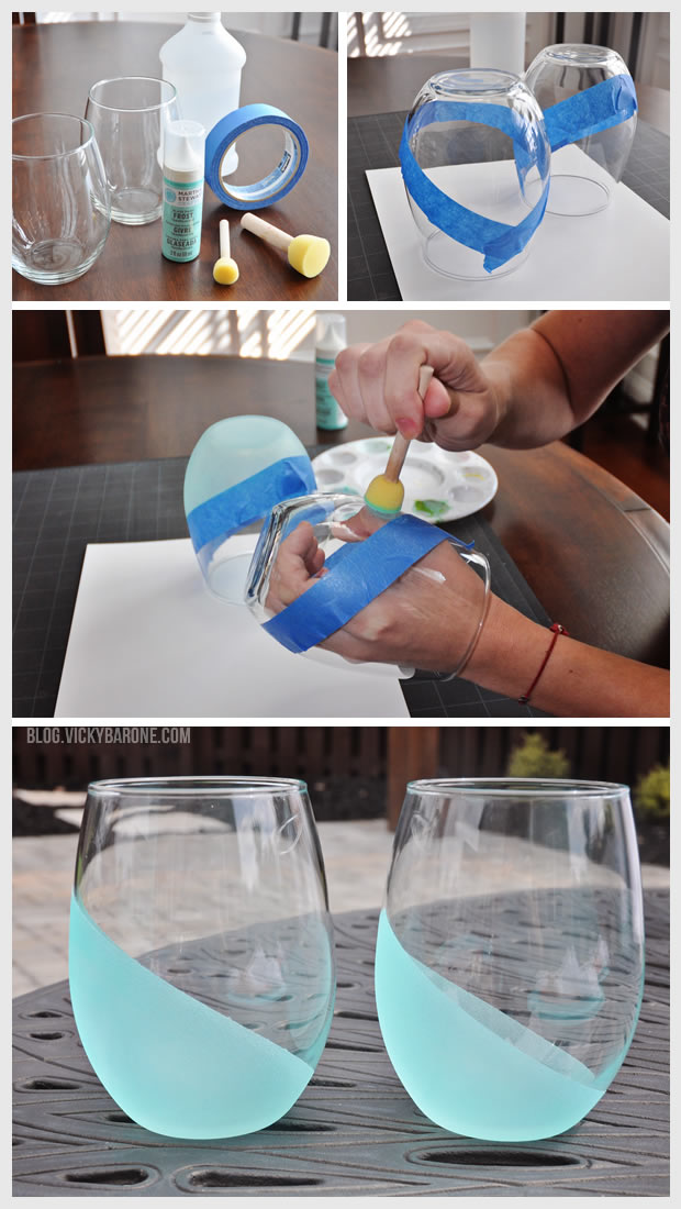 Dip Dyed Frosted Tumblers
