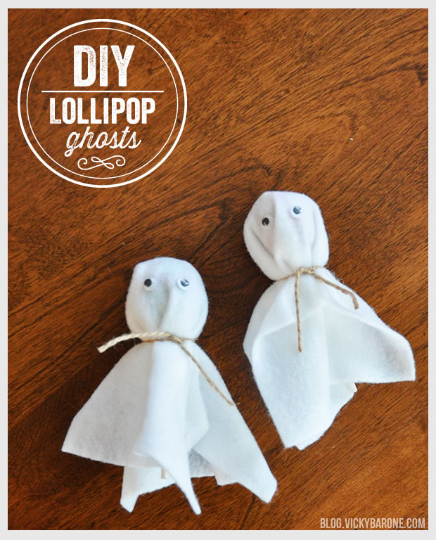 DIY Lollipop Ghosts