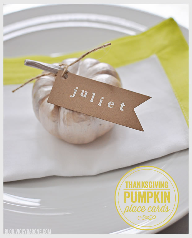 Thanksgiving Pumpkin Place Cards