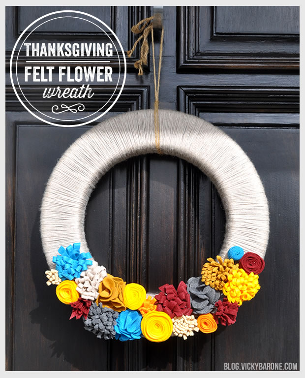 Thanksgiving Felt Flower Wreath