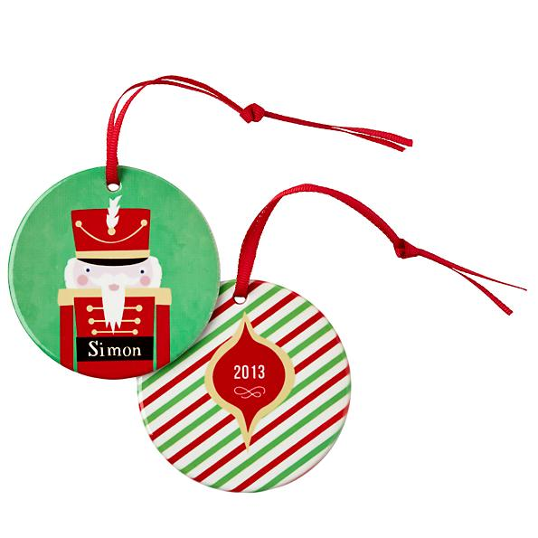 Personalized Holiday Ornaments by Vicky Barone for Land of Nod