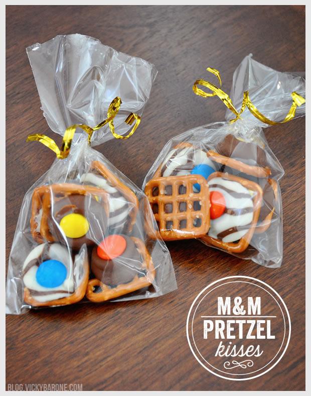 M&M Pretzel Kisses