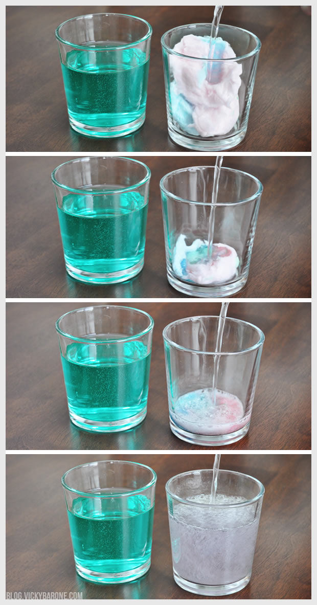 Sparkling Cotton Candy Drink