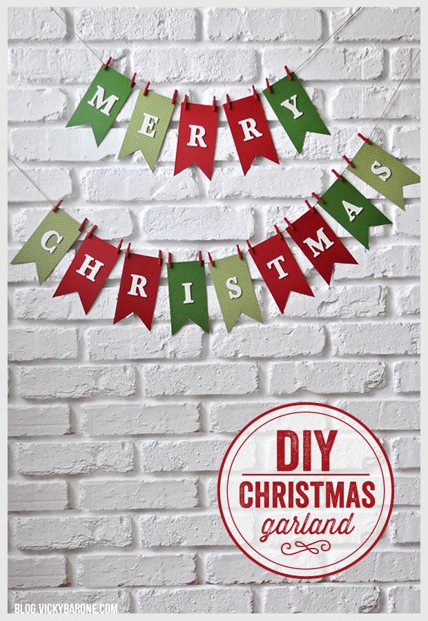 DIY Merry Christmas Garland