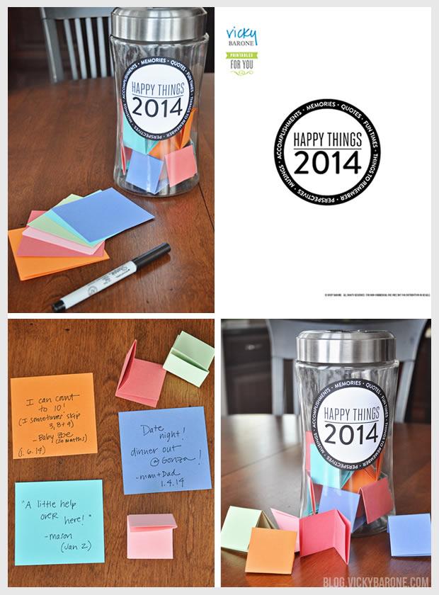 Happy Things Memory Jar + A Free Printable