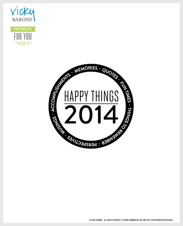 Happy Things Memory Jar FREE PRINTABLE by Vicky Barone