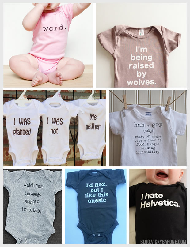 Things I Love: Clever Baby Onesies
