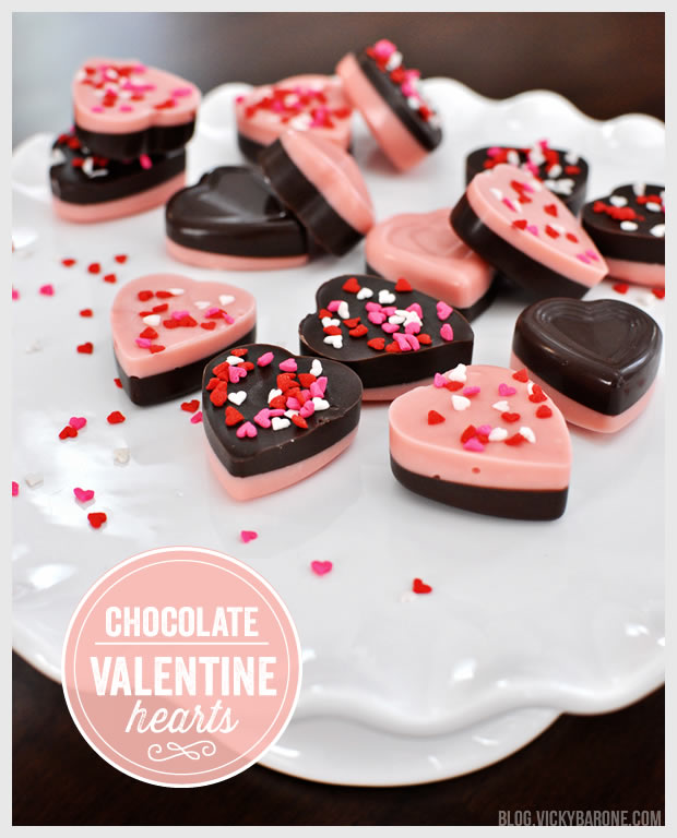 Chocolate Valentine Hearts
