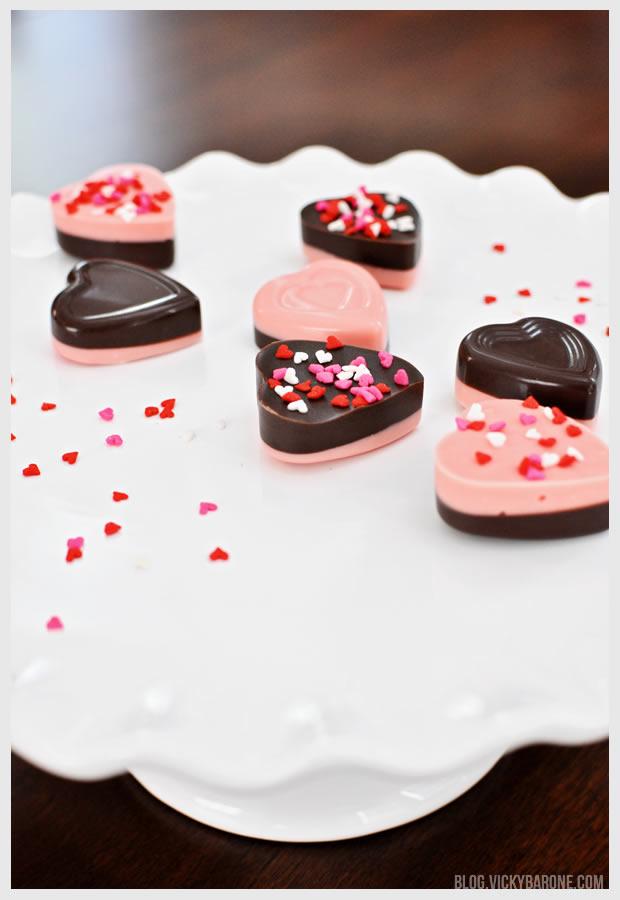DIY Chocolate Valentine Hearts   Vicky Barone