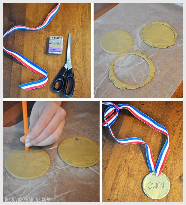 DIY Olympic Gold Medals   Vicky Barone