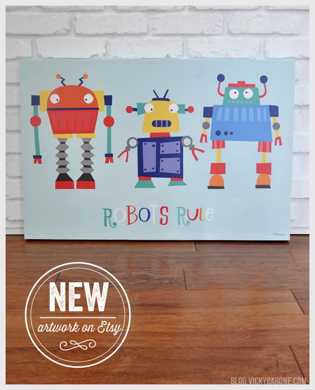 New Artwork on Etsy: Robots Rule