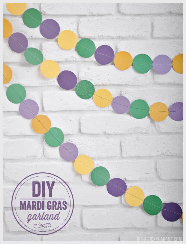 DIY Mardi Gras Garland