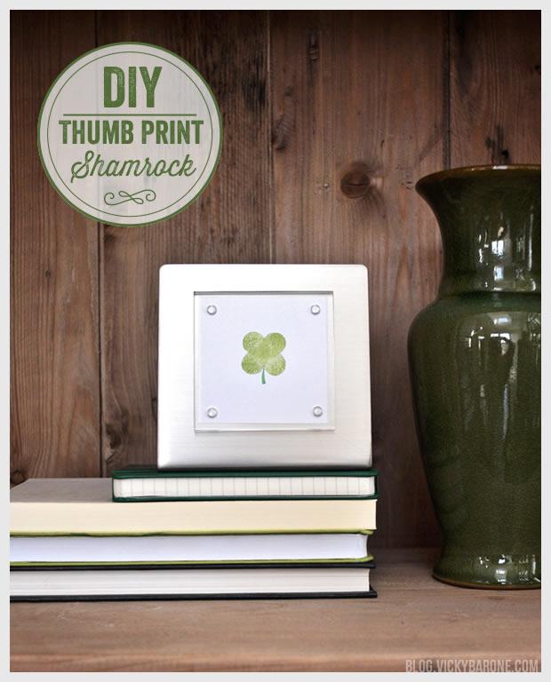 DIY Thumb Print Shamrock
