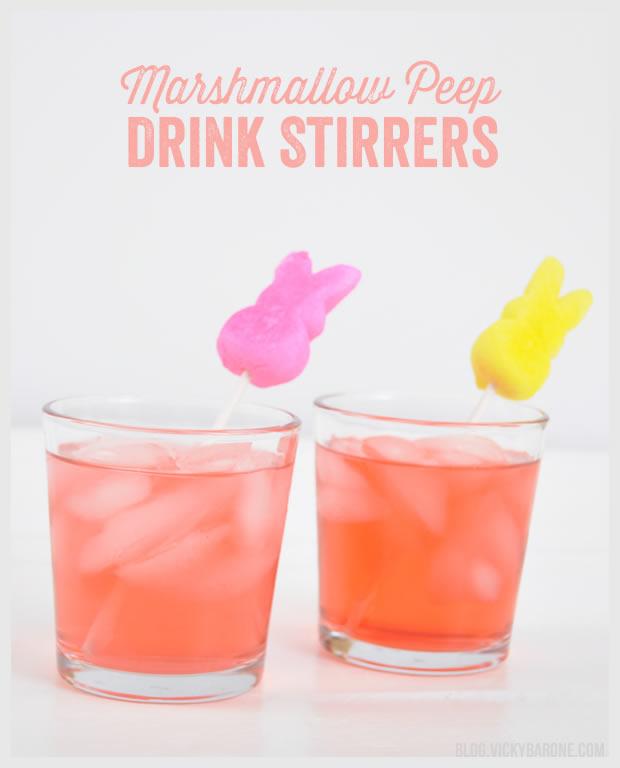 Marshmallow Peep Drink Stirrers