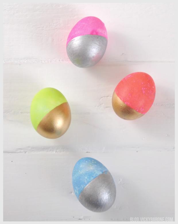 Metallic Easter Eggs | Vicky Barone