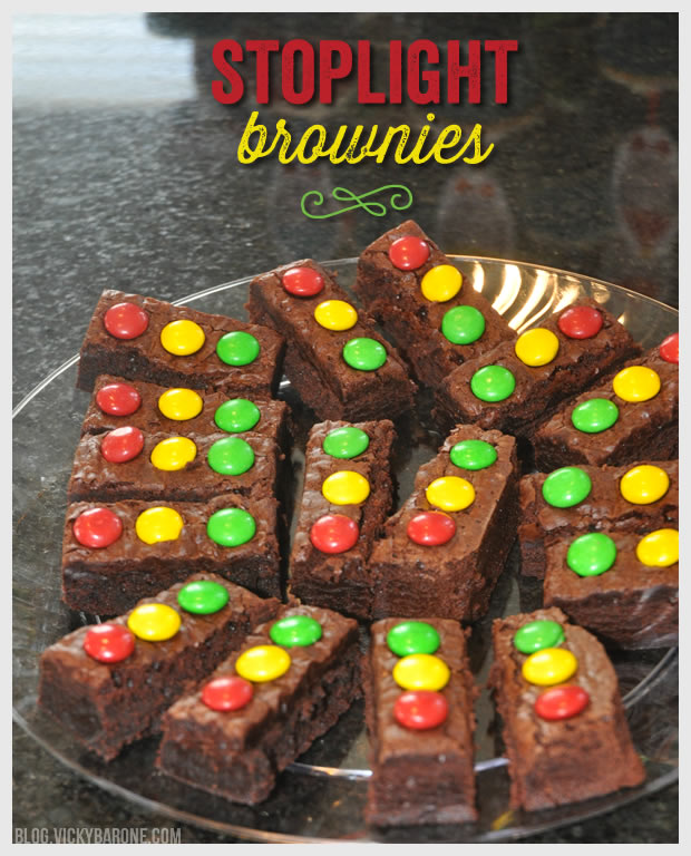 Stoplight Brownies