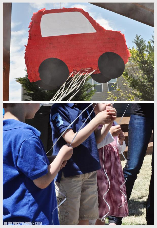DIY Pull String Pinata   Car Party   Vicky Barone