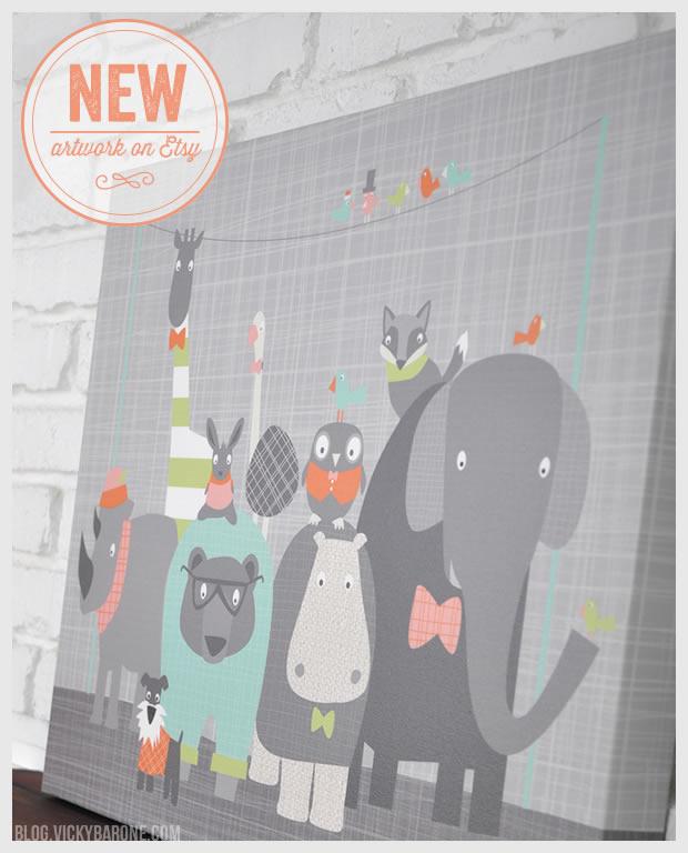 New Artwork on Etsy: Happy Animal Herds