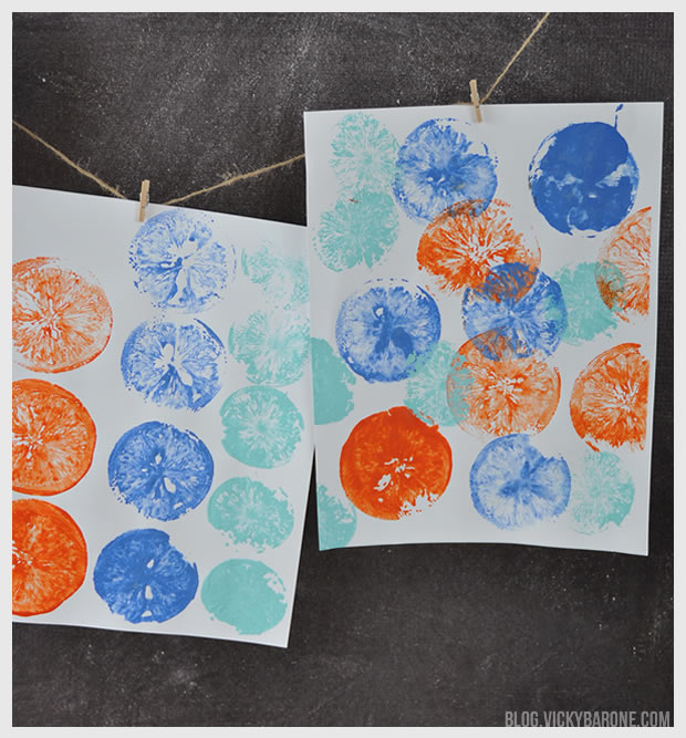 DIY Citrus Stamps | Vicky Barone