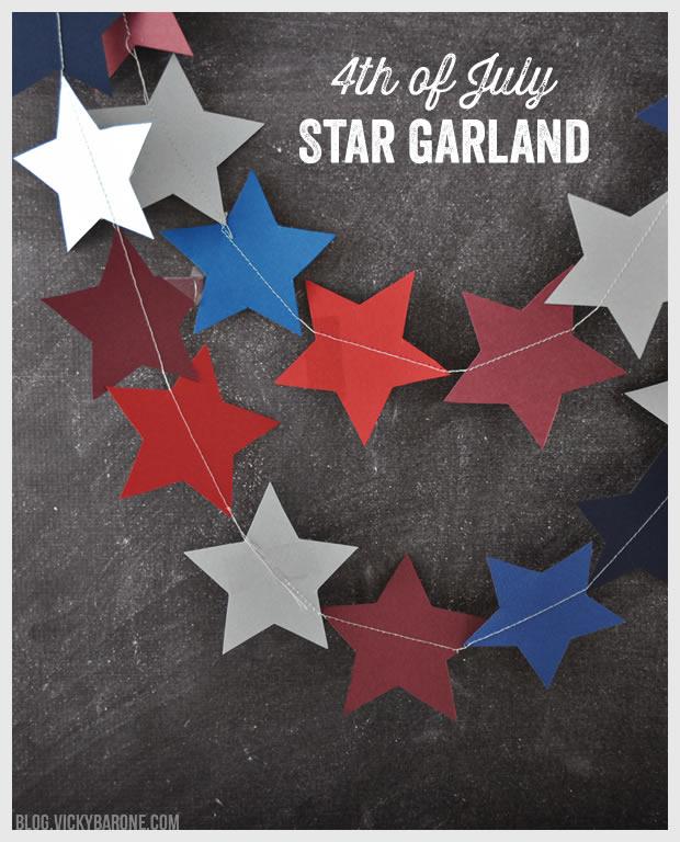 4th of July Star Garland