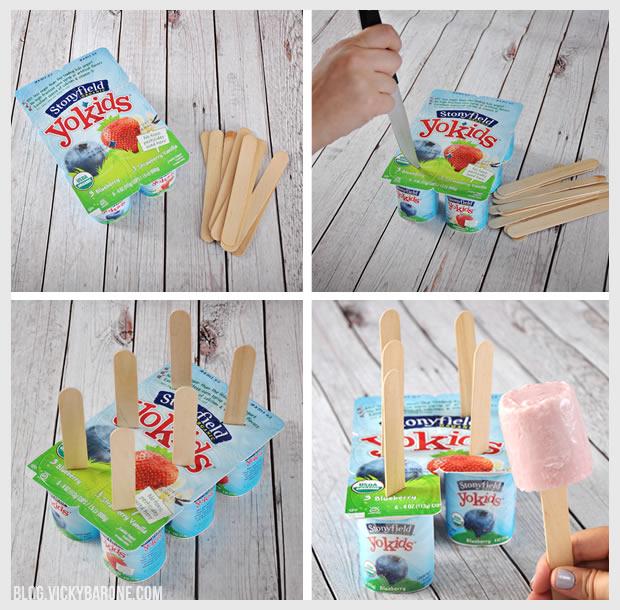 Yogurt Cup Popsicles | Vicky Barone
