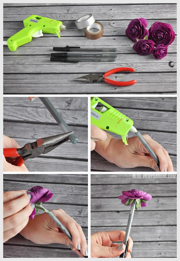 DIY Flower Pens   Vicky Barone