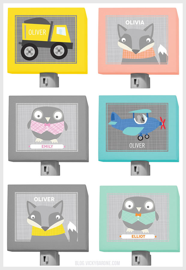 New Artwork on Etsy: Personalized Night Lights