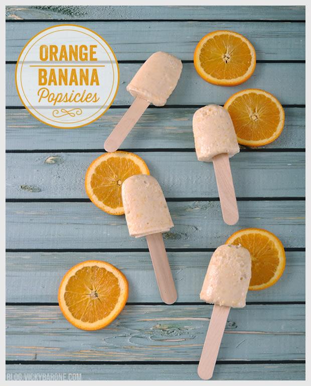 Orange Banana Popsicles