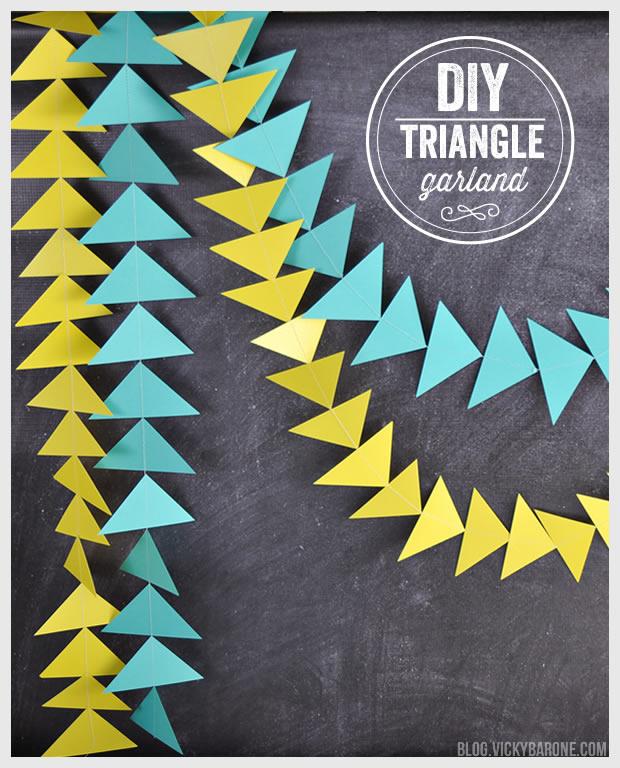 DIY Triangle Garland