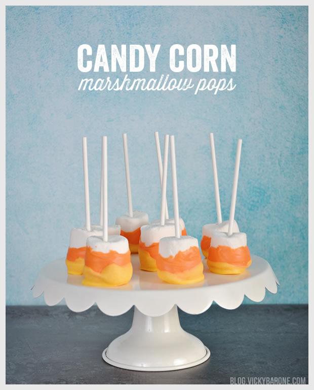 Candy Corn Marshmallow Pops