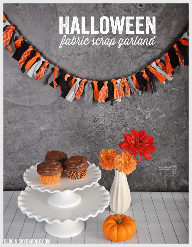 DIY Halloween Fabric Scrap Garland