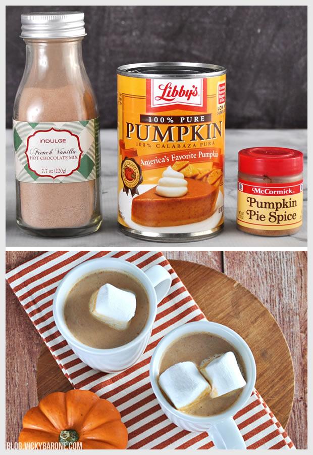Pumpkin Hot Chocolate | Vicky Barone