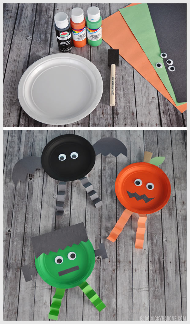Paper Plate Halloween Characters | Vicky Barone