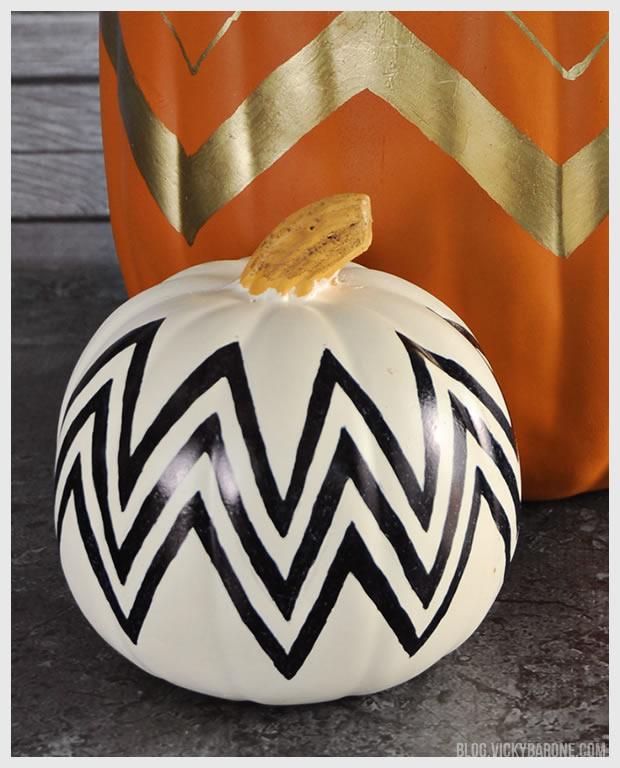 DIY Chevron Pumpkins   Vicky Barone