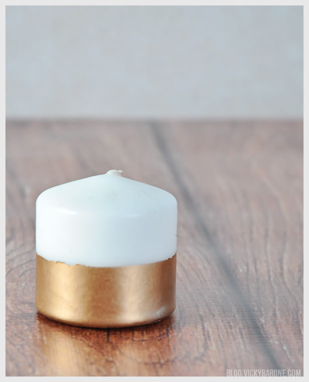 DIY Gold Dipped Candles | Vicky Barone