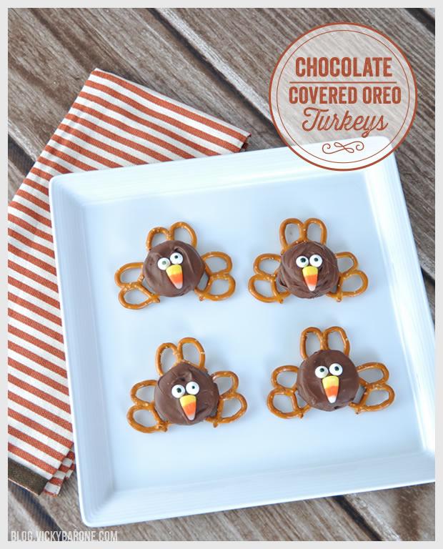 Chocolate Covered Oreo Turkeys
