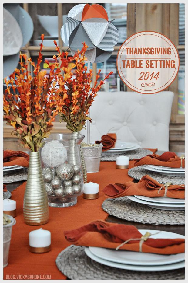 Thanksgiving Table Setting 2014
