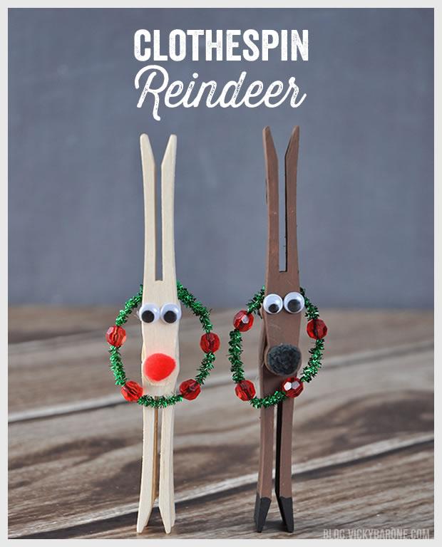 DIY Clothespin Reindeer