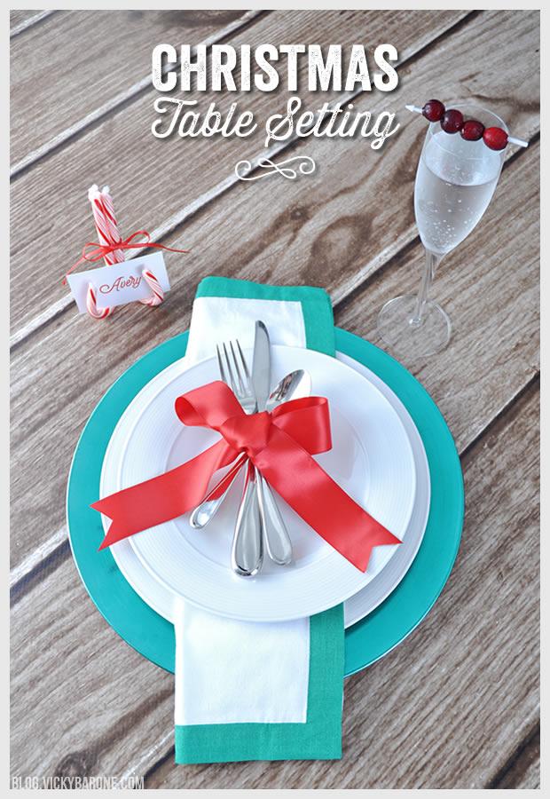 Christmas Table Setting 2014