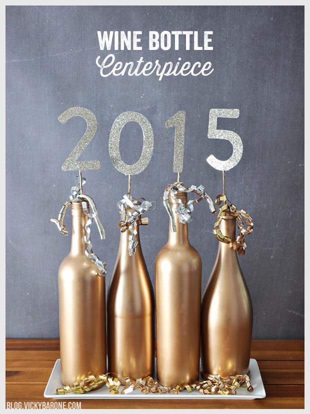 2015 Wine Bottle Centerpiece