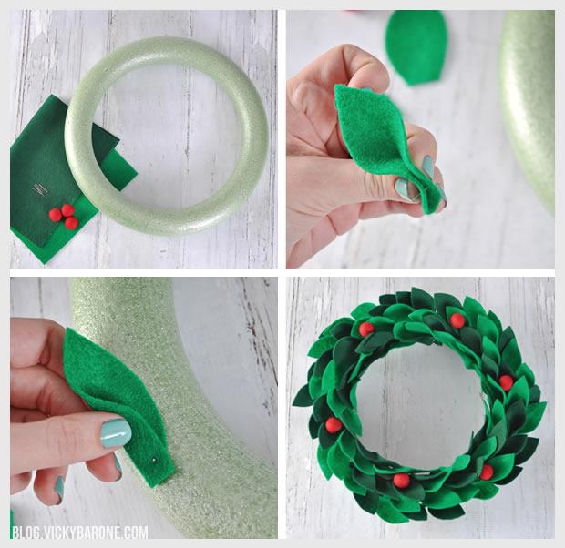 FIY Felt Holly Wreath | Vicky Barone