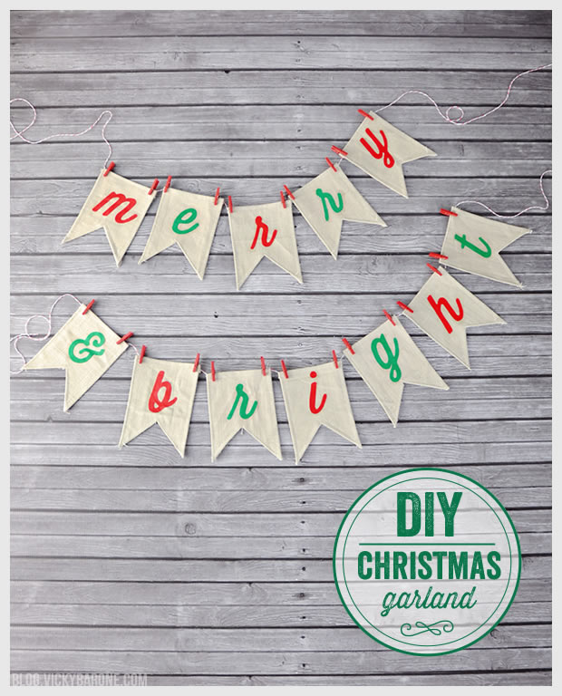"DIY ""Merry & Bright"" Christmas Garland"